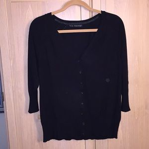 Maurices black 3/4 sleeve cardigan